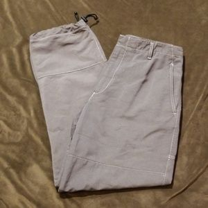 Zegna Sport Cinch Canvas Pants 34